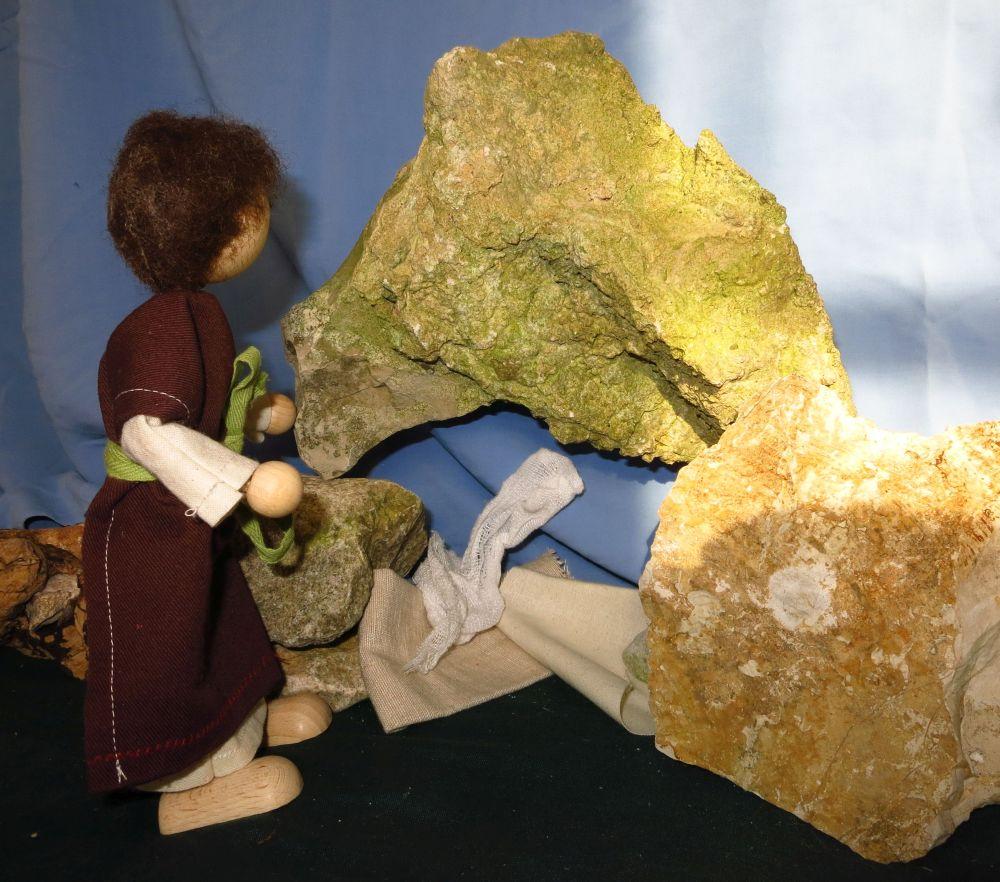 Petrus am leeren Grab